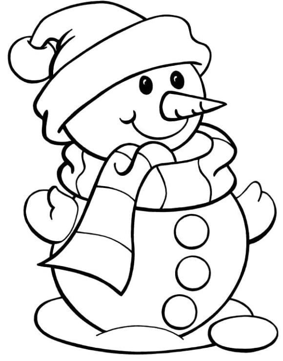 awesome coloring page snowman full
