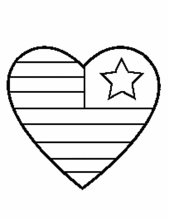 beautiful coloring page of a heart printable 1