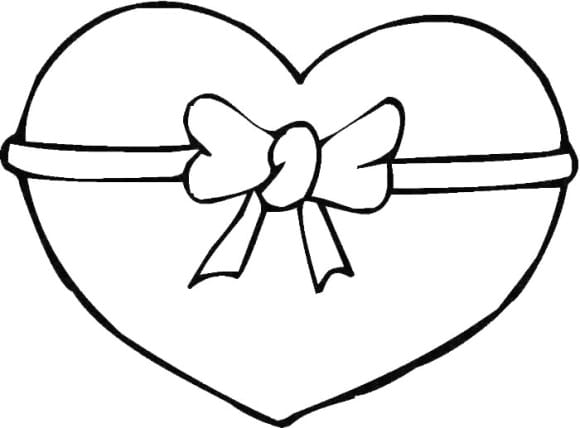 beautiful coloring page of a heart printable 2