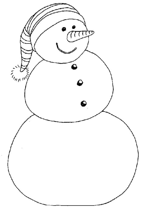best of coloring page snowman full