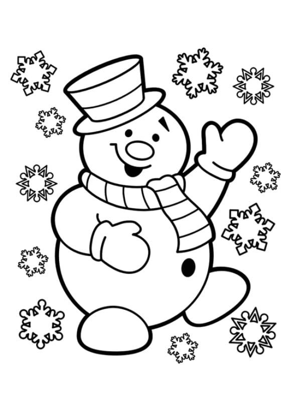best of coloring page snowman hd