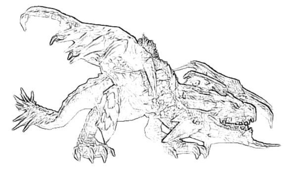 best of monster hunter rathalos wyvern coloring pages