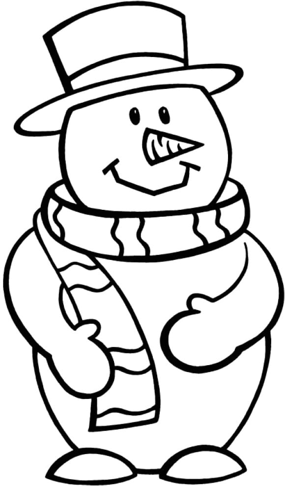 elegant coloring page snowman full