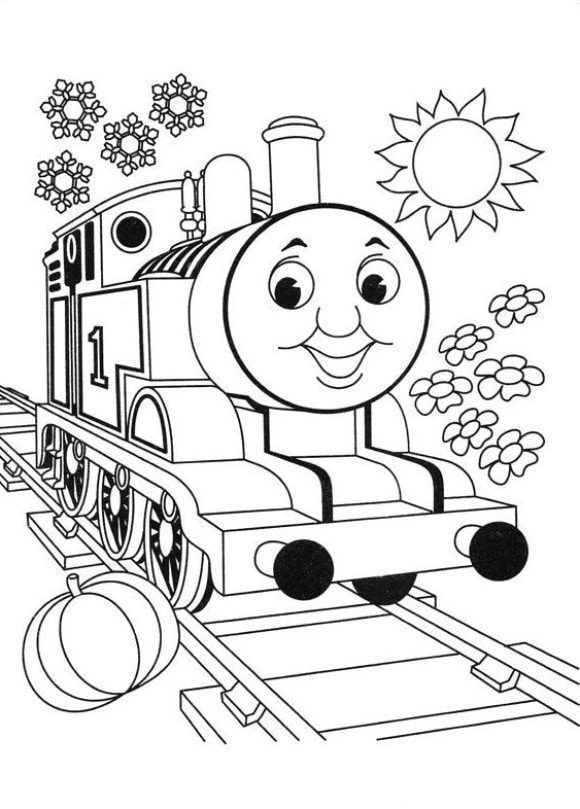 elegant coloring page thomas the train