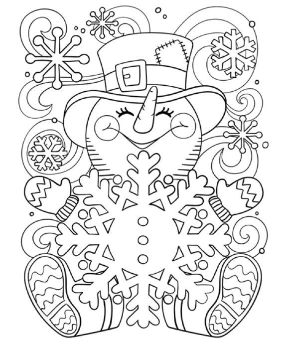 fresh coloring page snowman hd