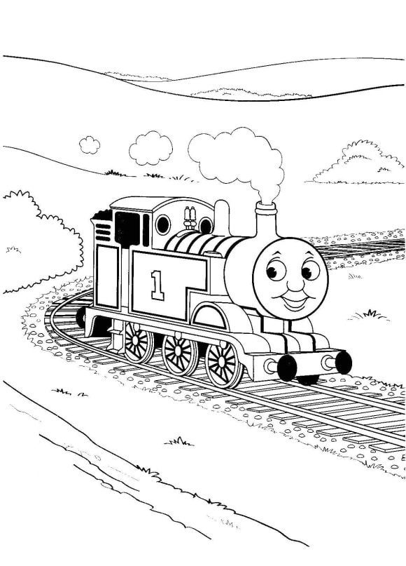fresh coloring page thomas the train 1