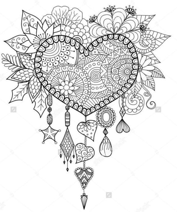 fresh dream catcher coloring pages