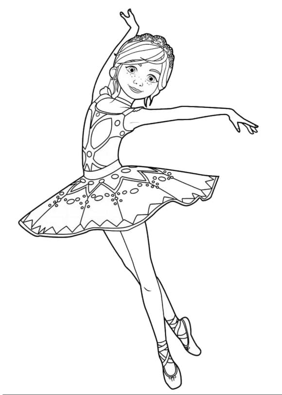 lovely coloring page ballerina hd