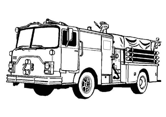 lovely coloring page fire truck 1