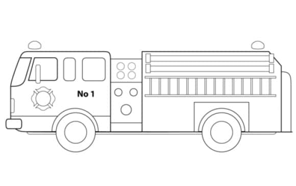 Coloring Page Fire Truck