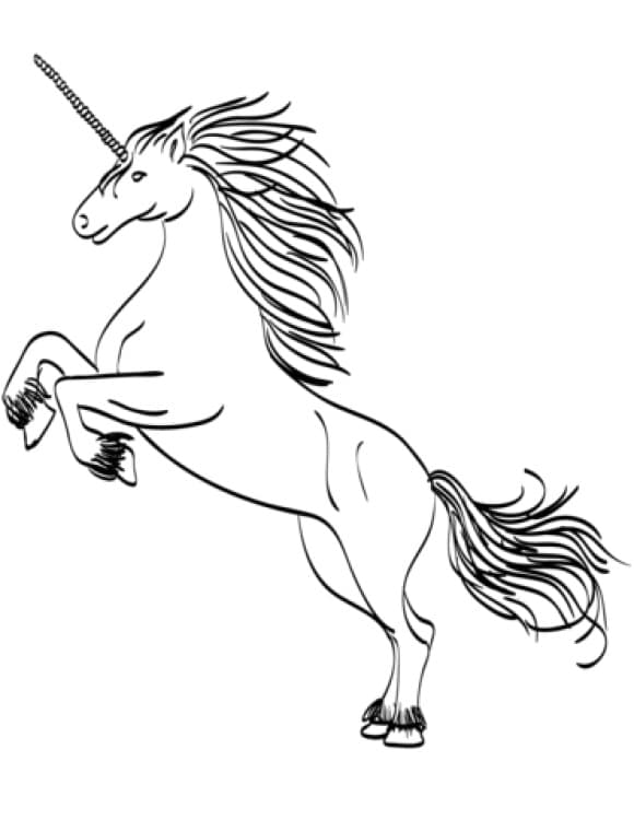 lovely coloring page of a unicorn full