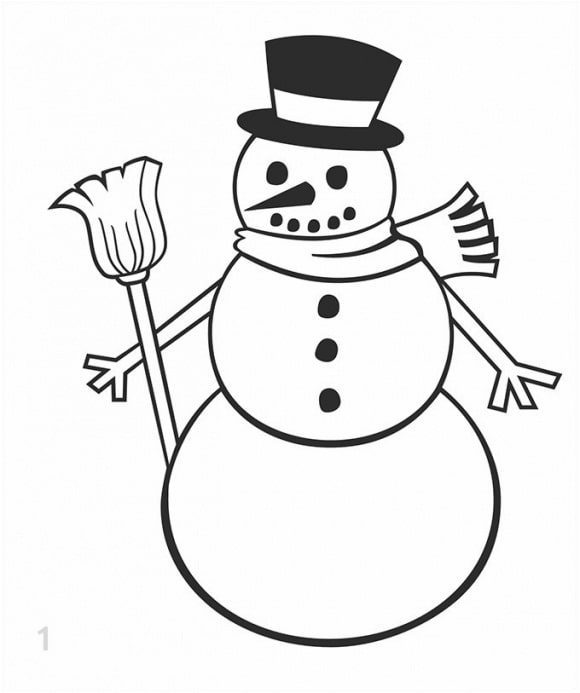 lovely coloring page snowman hd