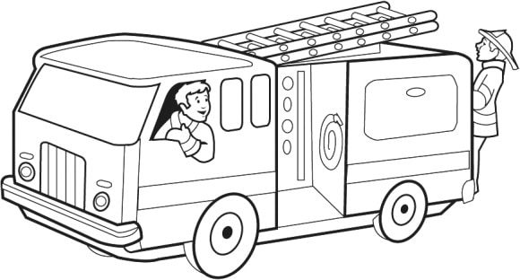 luxury coloring page fire truck 1