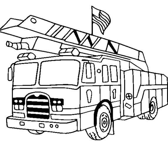luxury coloring page fire truck