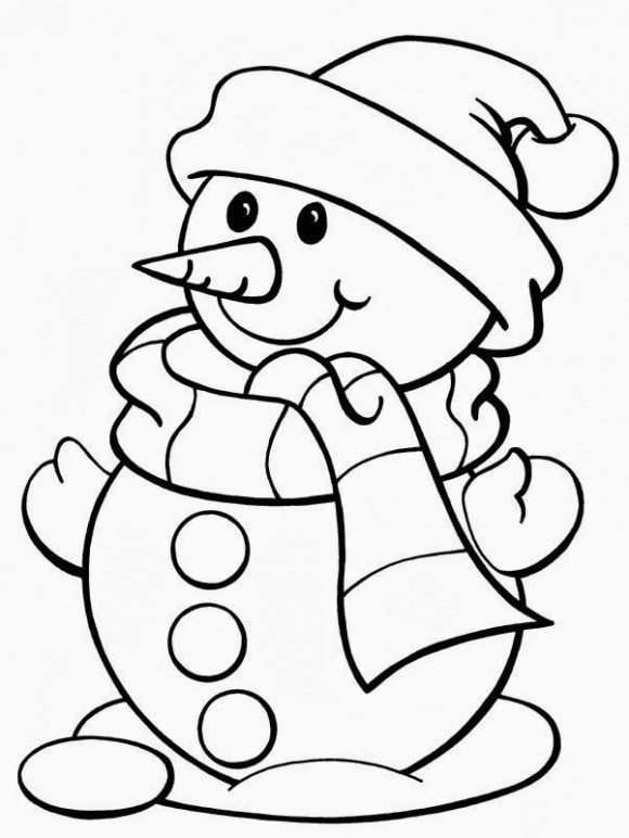 luxury coloring page snowman hd