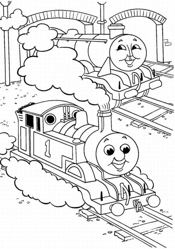 luxury coloring page thomas the train 1