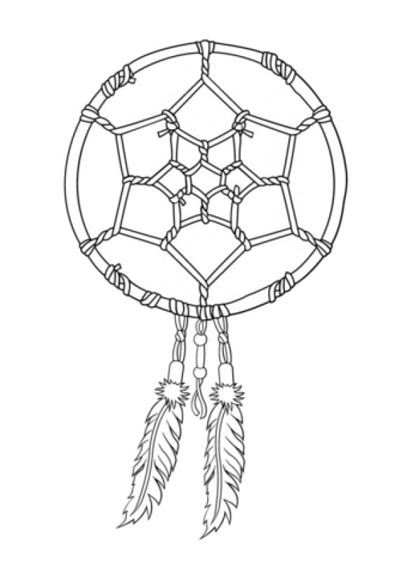 luxury dream catcher coloring pages
