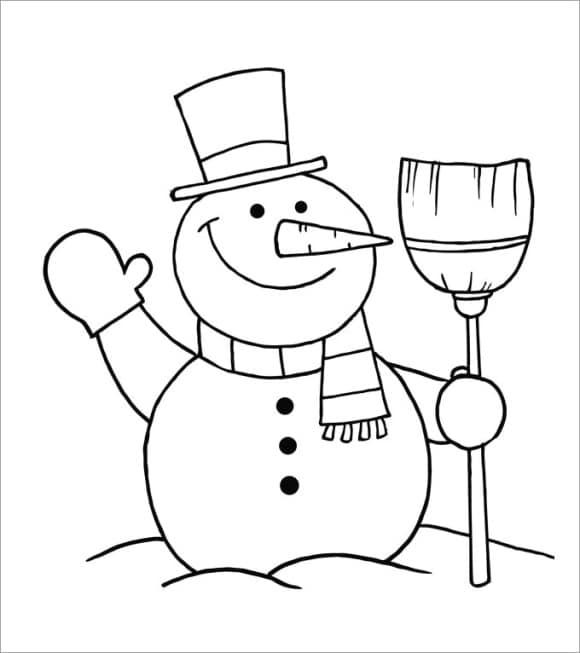 new coloring page snowman full