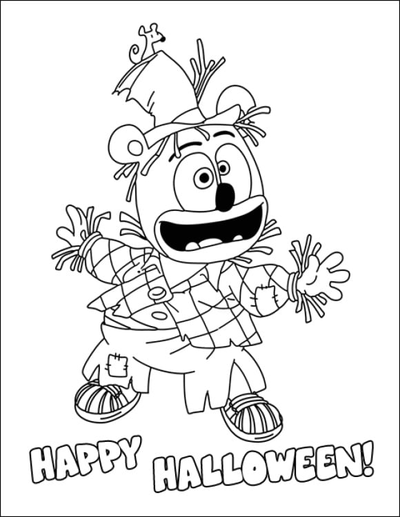 new gummy bear coloring page