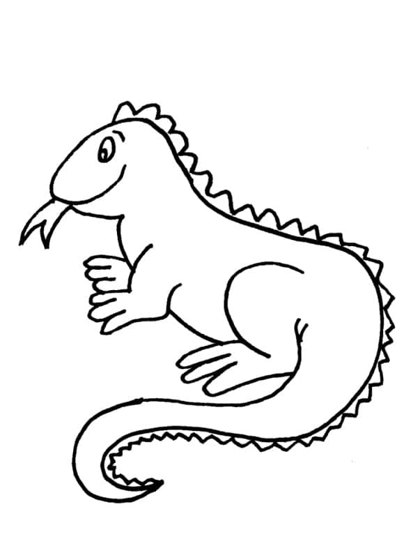 new iguana coloring page