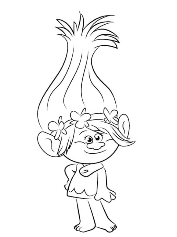 new princess poppy troll coloring pages