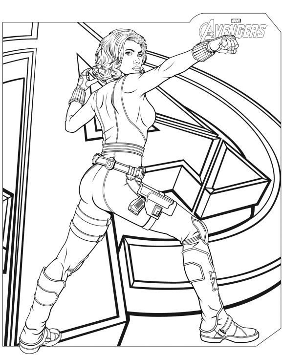 awesome coloring page avenger hd