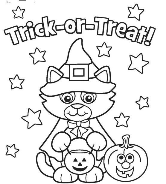 awesome coloring page halloween hd