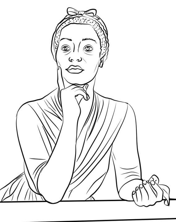 awesome rosa parks coloring page