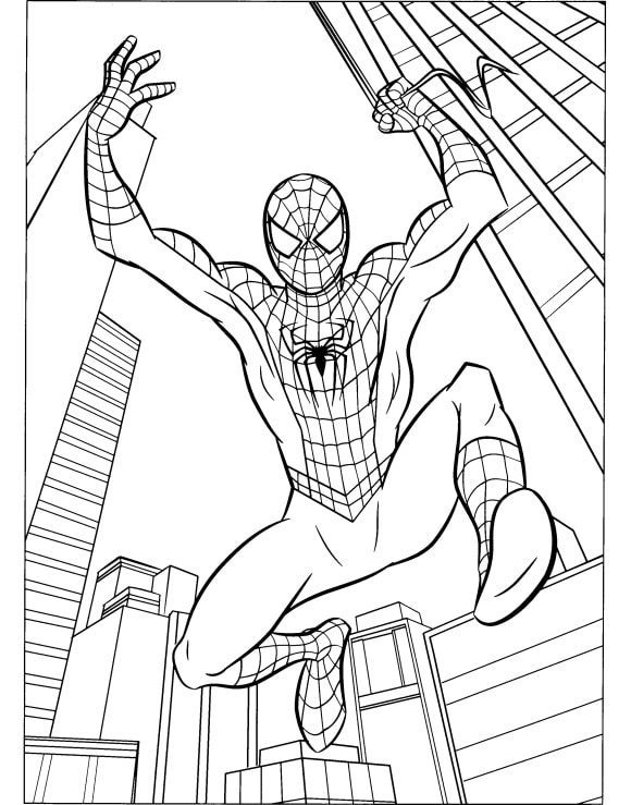 beautiful coloring page spiderman printable