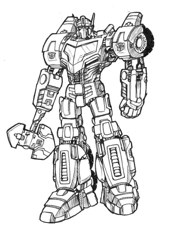 beautiful optimus prime coloring page