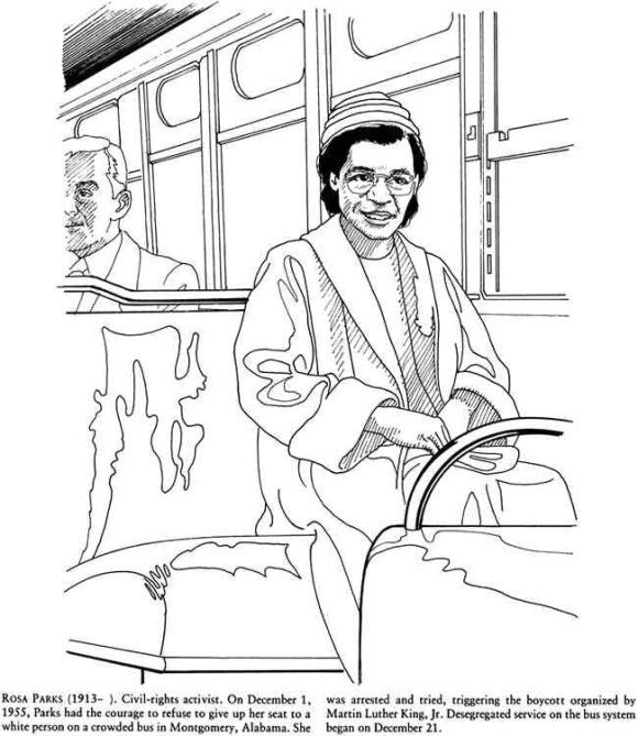beautiful rosa parks coloring page
