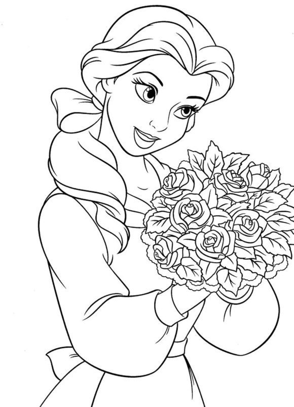 best of coloring page disney princess