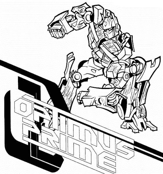best of optimus prime coloring page