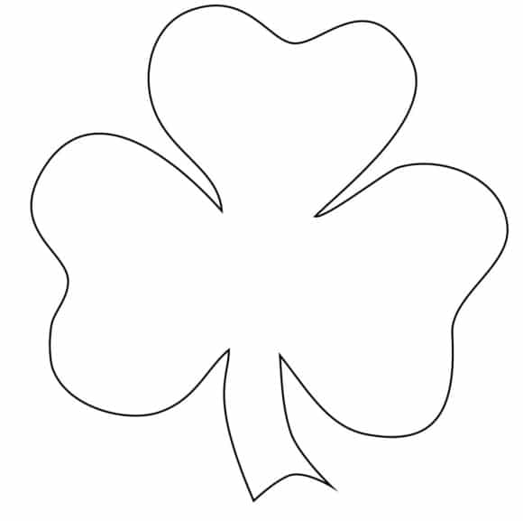 best of shamrock coloring page 1