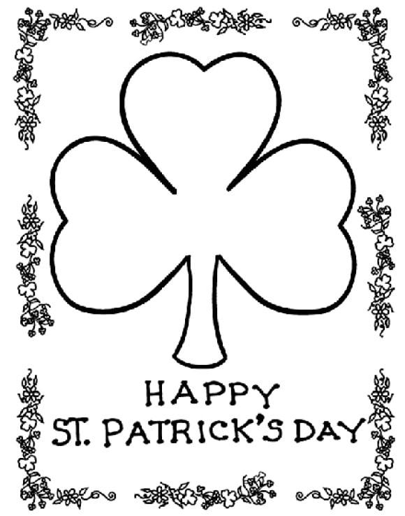 best of shamrock coloring page