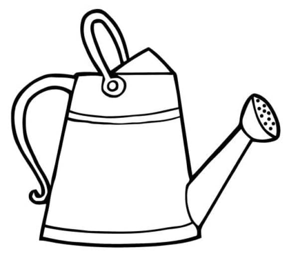 best of watering can coloring page 1