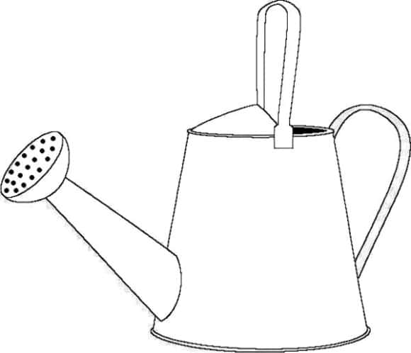 best of watering can coloring page