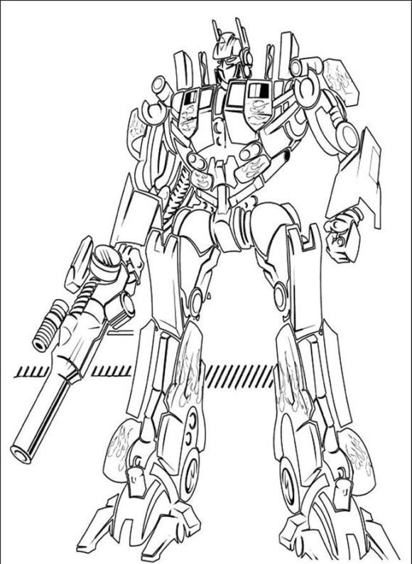cool optimus prime coloring page