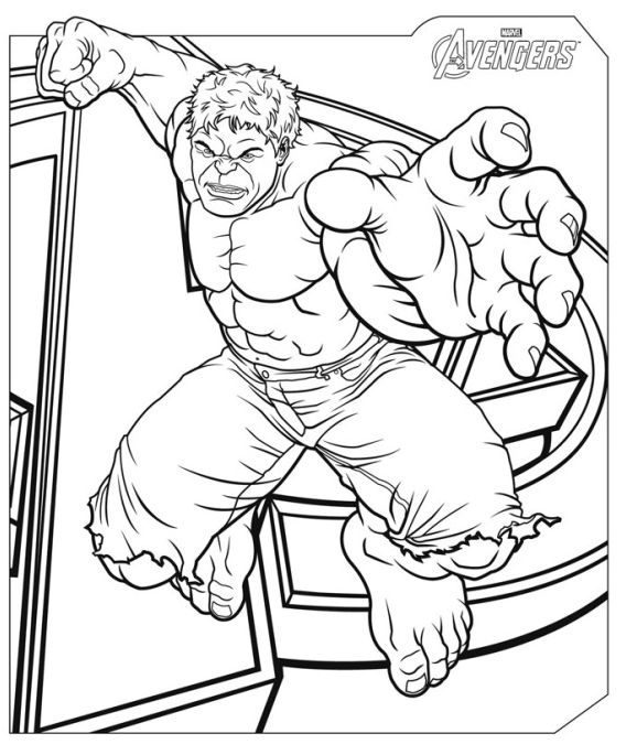 fresh coloring page avenger hd