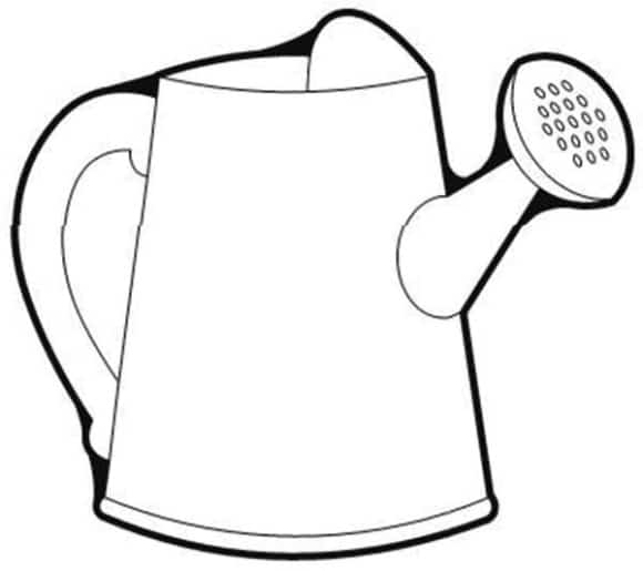 fresh watering can coloring page