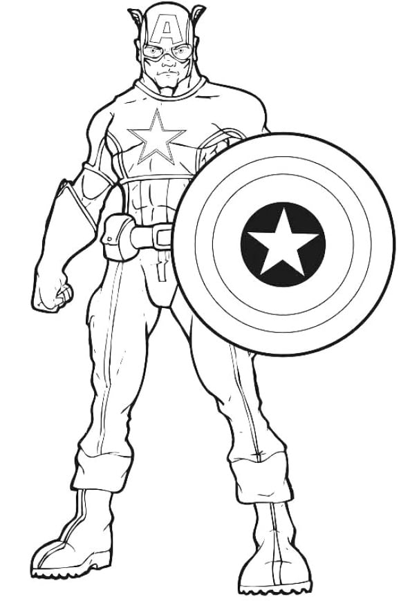 inspirational coloring page avenger hd