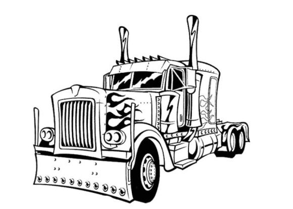 inspirational optimus prime coloring page 2