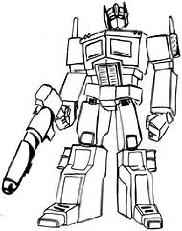 inspirational optimus prime coloring page