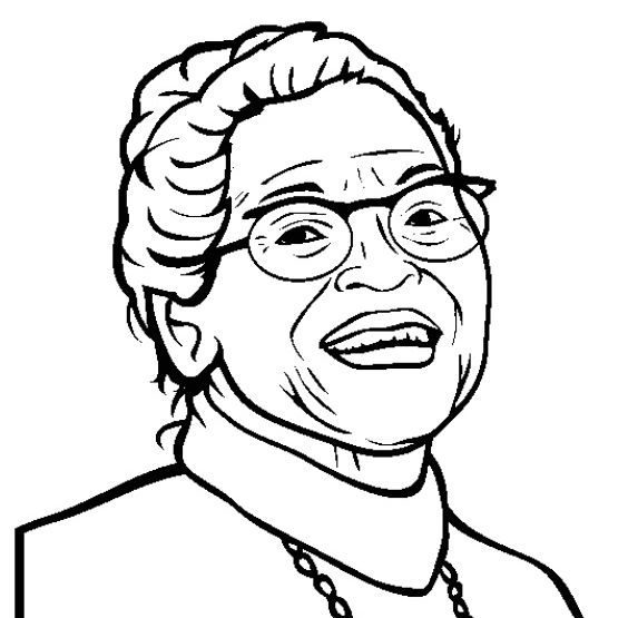 inspirational rosa parks coloring page