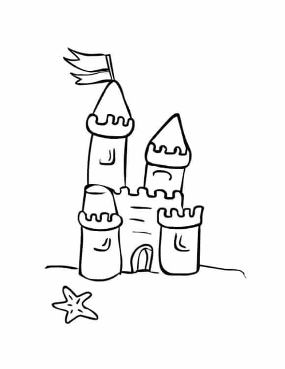 inspirational sandcastle coloring page 1