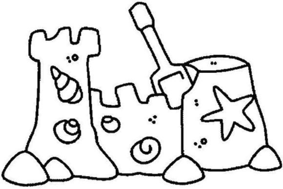 inspirational sandcastle coloring page