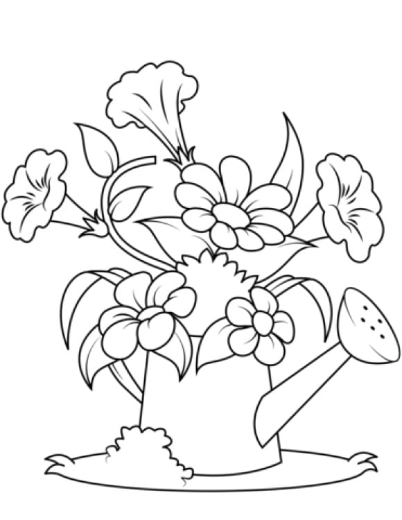inspirational watering can coloring page