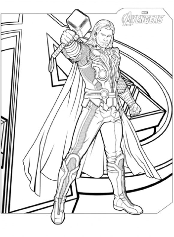lovely coloring page avenger hd