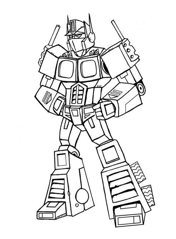 lovely optimus prime coloring page