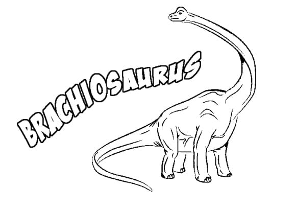 luxury brachiosaurus coloring page hd